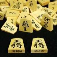 御蔵島産黄楊材 竹風作彫駒 錦旗書 本榧駒箱セット