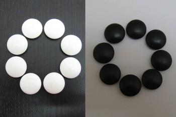 日向特産蛤碁石(スワブテ貝) 32号雪印那智黒付+碁笥 ケヤキ 超特大セット(中古)