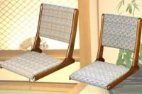 和風座椅子【飛鳥】ゴールド/ブルー