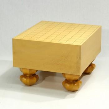 日本産本榧将棋盤 木裏4.5寸足付