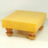 本榧碁盤 3寸柾目脚付盤 GCR7439