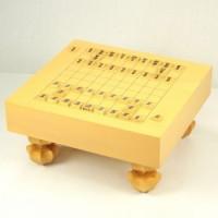 本榧将棋盤 3.4寸 柾目足付(駒置き有) 11Z077